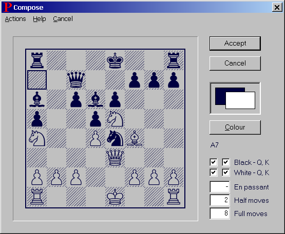 Composing a Chess Game